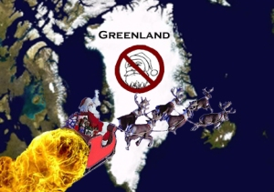 Santa's Christmas Eve will go a little quicker now that he can skip Greenland.