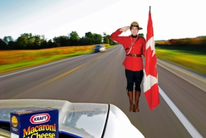 Since the speed limit is 120 mph in Canada, sneaking Kraft Mac & Cheese into Alberta should be a breeze.