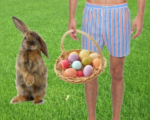Easter dad in boxers