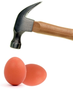 Hammer and eggs
