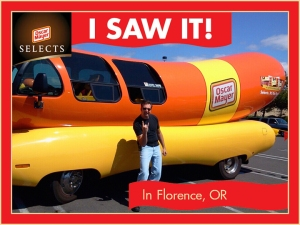Yep, that's me. With a big Wiener-mobile. Being a dork...
