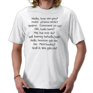 Foreign language shirt