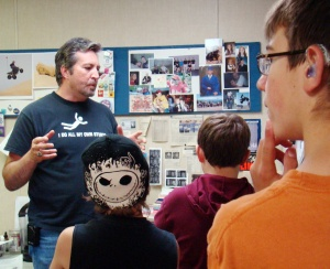 It was clear my presentation to members of the Boys & Girls Club had them enthralled. Or was it a stray nose hair?