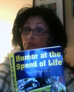 "Robyn Lawson, aka """"Blog Woman!"" consults my book for its wisdom. Keep looking, Robyn..."