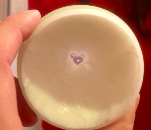 I found this heart in my hair paste this morning; a gift from my Muse.