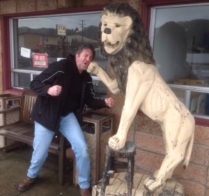 If you've never been sucker-punched by a wooden lion, I don't recommend it.