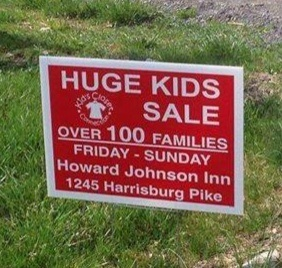 "Sadly, more than 100 families in Harrisburg, Ore. have opted to sell their ""huge"" children rather than pay for a health club membership."