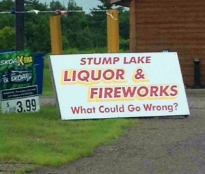 I think there's a reason it's called Stump Lake.