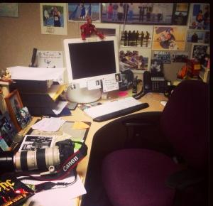 Where the magic happens. Or so I keep telling my editor...