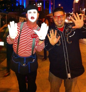 "George Clooney supports the ""Speak Up: Save the Mimes"" project and SO DO I!"